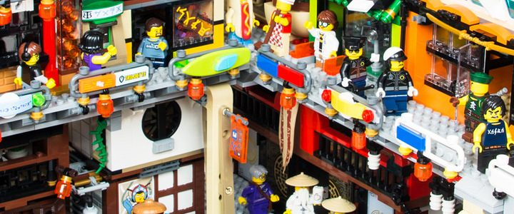 Ninjago City harbour by Keith Fisher