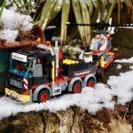 LEGO City Heavy Cargo Transport 60183 truck on a narrow path
