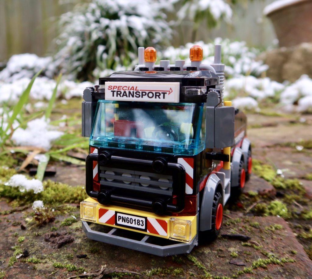 LEGO City Heavy Cargo Transport 60183 truck close up