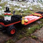 LEGO City Heavy Cargo Transport 60183 trailer covered in snow