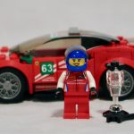 LEGO Ferrari GT3 with driver ready to go!