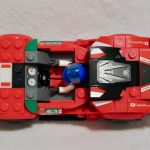 Inside the cockpit of the LEGO Speed Champions Ferrari GT3 75886
