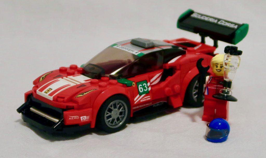 LEGO Ferrari 488 GT3 with driver, Christina Nielsen