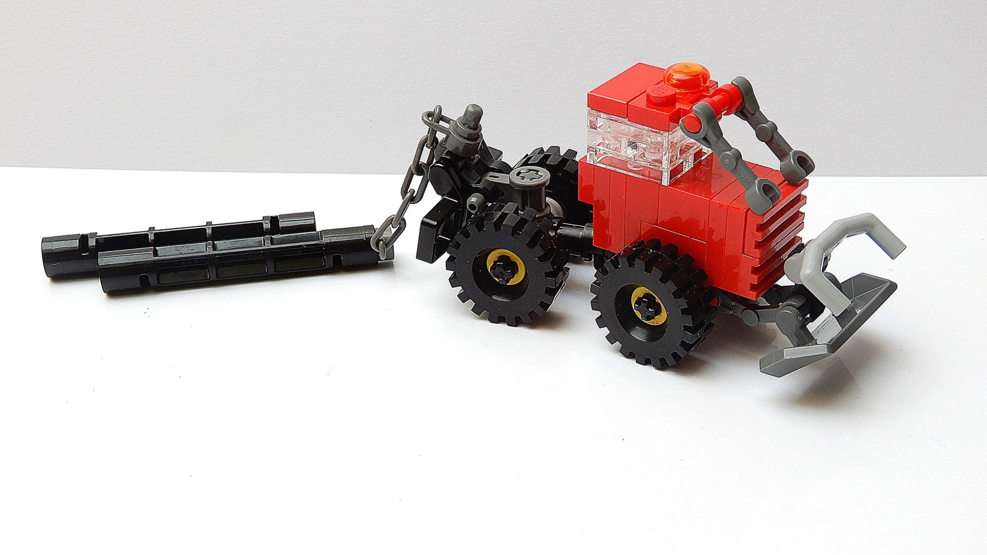 LEGO MOC Instructions to build this small Forest Cable Skidder