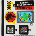 LEGO Jurassic Park Velociraptor Chase Review Sticker Sheet set 75932