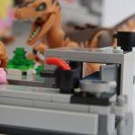 LEGO Jurassic Park Velociraptor Chase Review Raptor in the kitchen set 75932