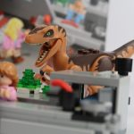 LEGO Jurassic Park Velociraptor Chase Review Raptor attacking set 75932