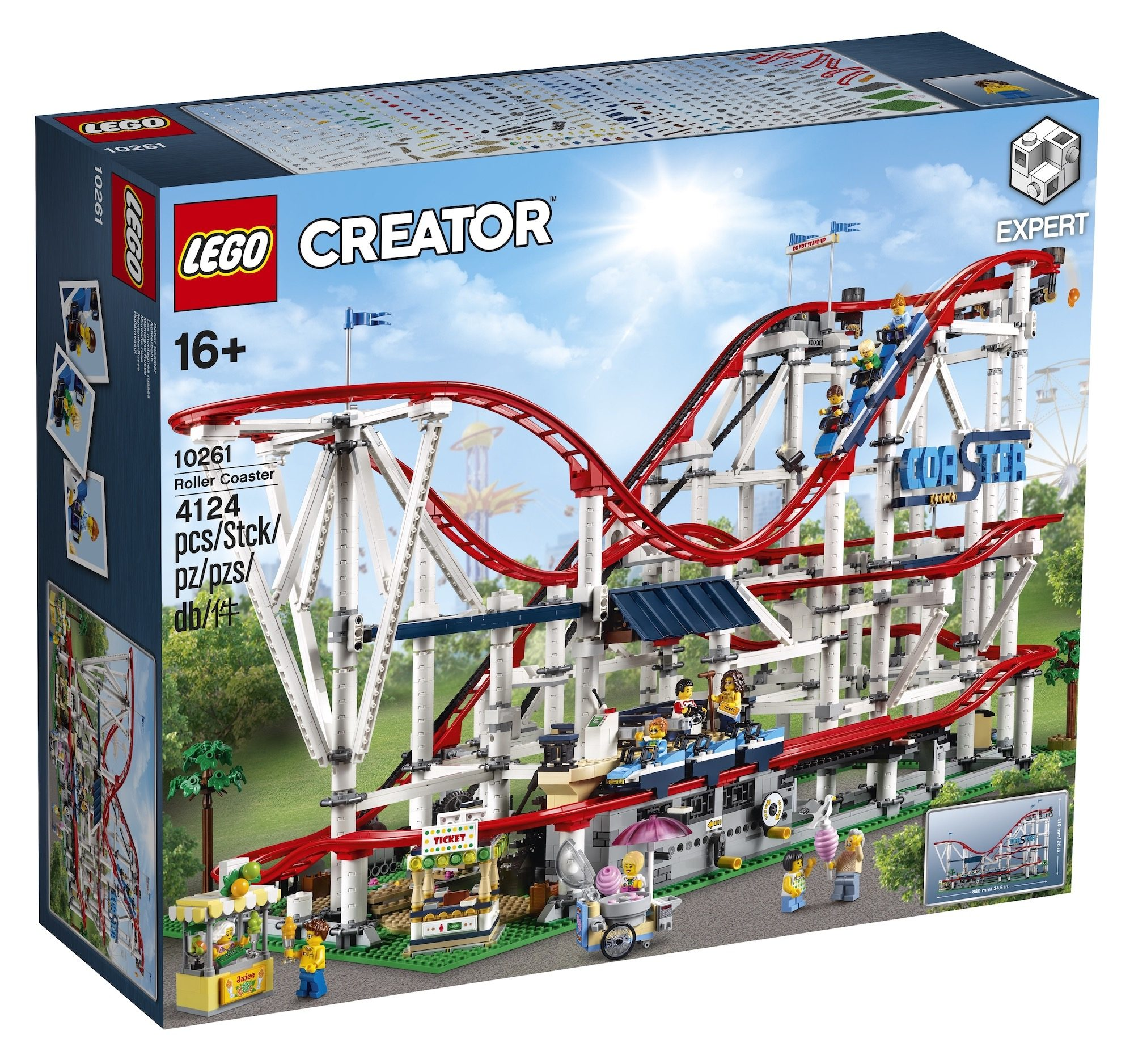 Revealed: Official LEGO Creator Expert Roller Coaster set 10261 [news]