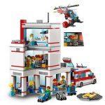 LEGO City Hospital (set 60204) Rear Action Shot
