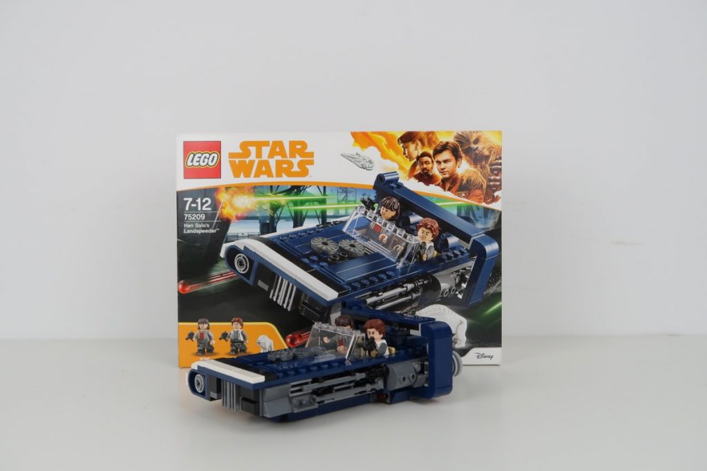 LEGO Star Wars Han Solo's Landspeeder Review 75209 Box and Model