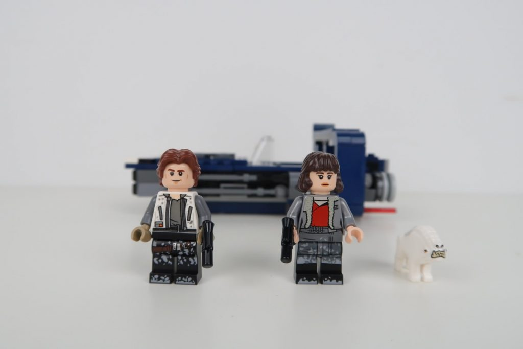 LEGO Star Wars Han Solo's Landspeeder Review 75209 Minifigure Faces