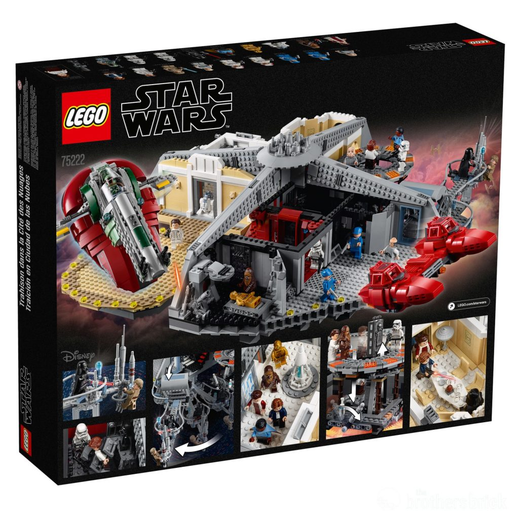 LEGO Star Wars 75222 Betrayal At Cloud City - box Back High Res