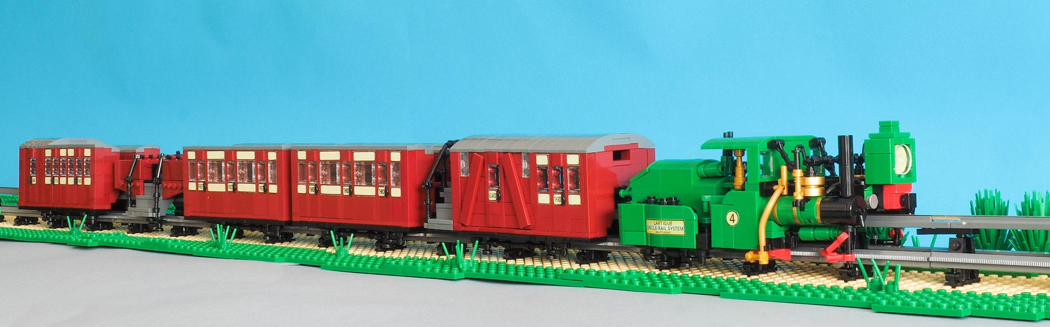 Lartigue Monorail Prototype LEGO Train