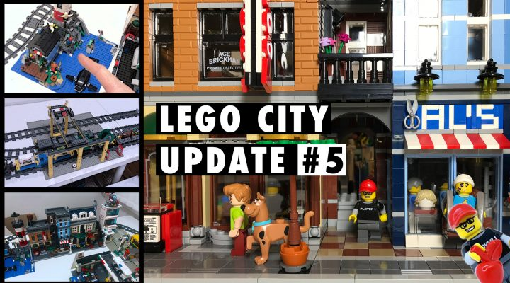Studsburg Custom LEGO City Update #5 - From the ashes, the trains are coming!