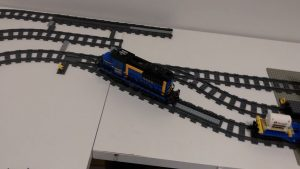 Studsburg Custom LEGO City Update #5 - The LEGO Train 60052 pulls out of the siding