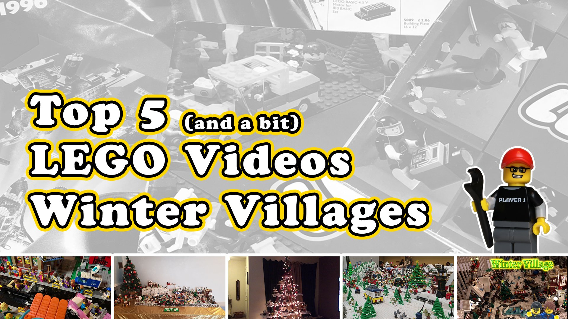 LEGO Top 5 And A Bit Winter Village Scenes! December 9th 2018