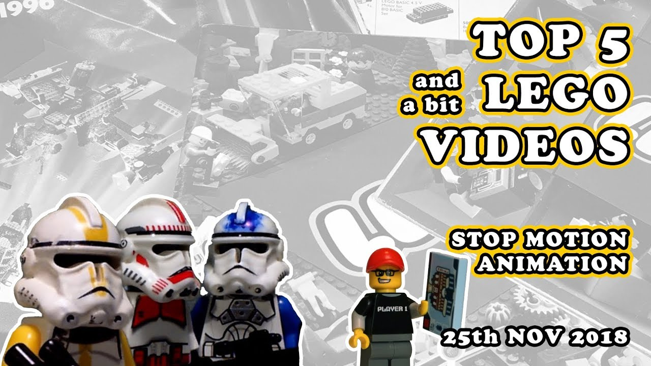 Top 5 and a bit LEGO Stop Motion Animation Videos!
