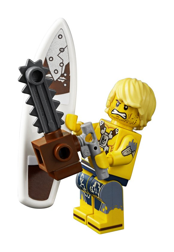 LEGO Movie 2 - Welcome to Apocalypseburg 70840 - Chainsaw Dave Minifigure and accessories