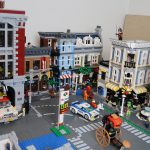 LEGO City of Studsburg with the LEGO Ghostbusters Firehouse Headquarters placed (75827)