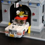 LEGO Ghostbusters Ecto-1 Leaving the Firehouse Headquarters (75827 & 75828)
