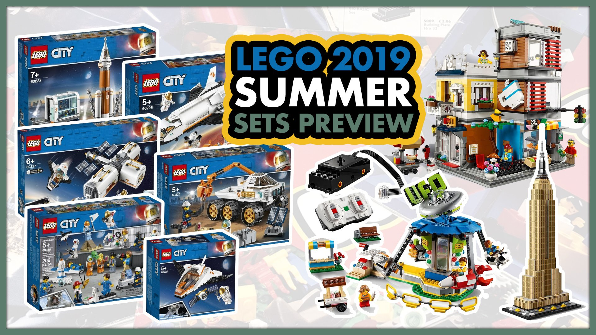 LEGO 2019 Summer Sets Preview! Returning to space!