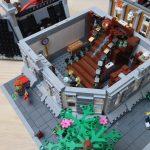 Custom LEGO MOC Sanctum Sanctorum Showdown Modular (76108) Grand Staircase