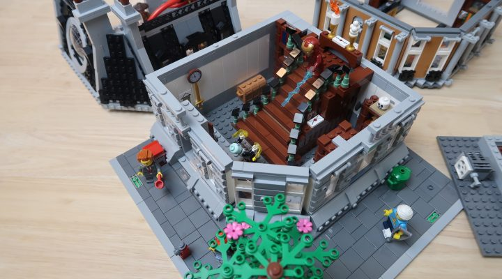 Custom LEGO MOC Sanctum Sanctorum Showdown Modular (76108) Grand Staircase