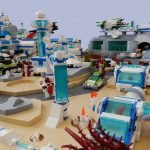 Amfibalien Defence Against the Astro Bunny Outbreak in LEGO Space by Vladimir van Hoek